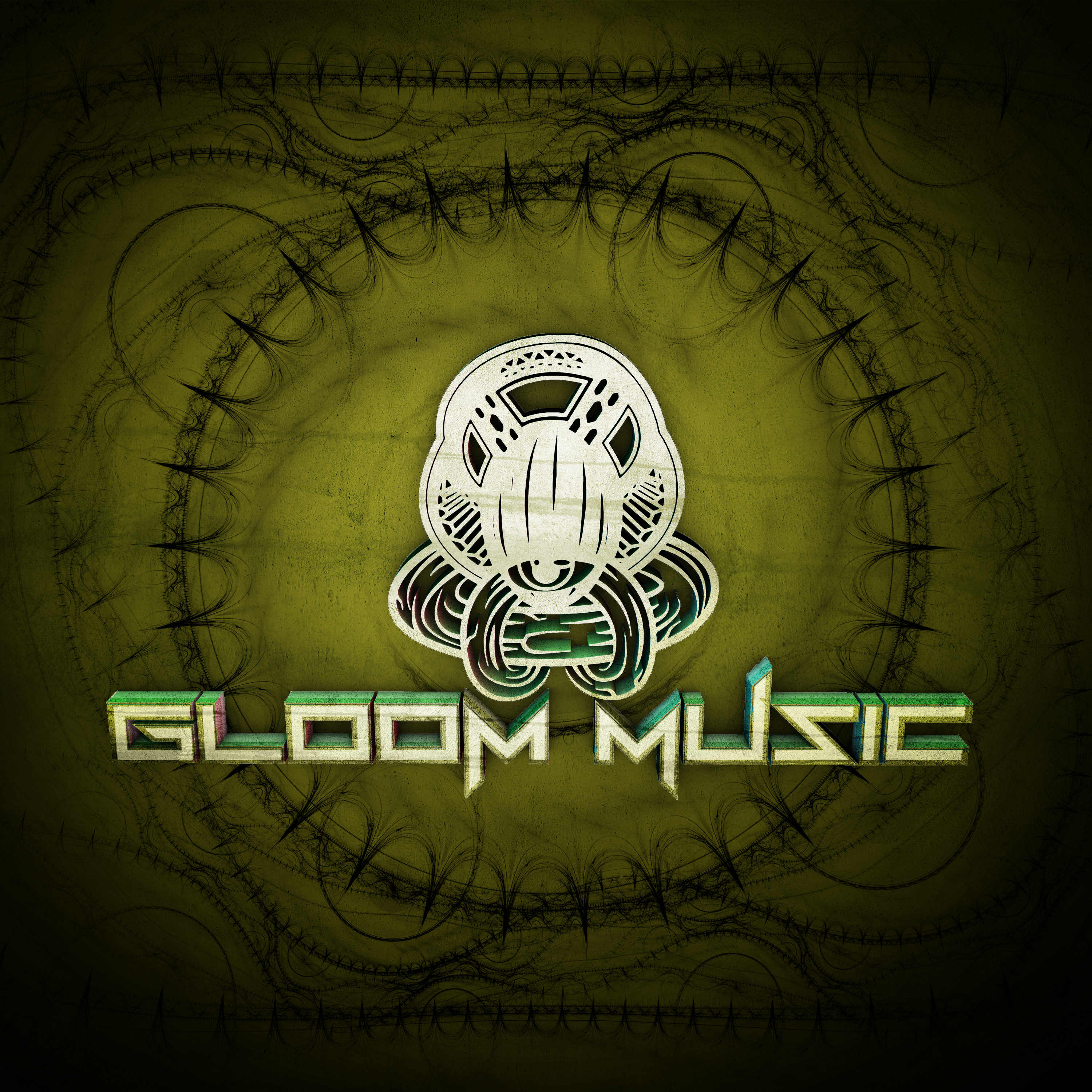 GLOOM MUSIC 3D LOGO Verde Low